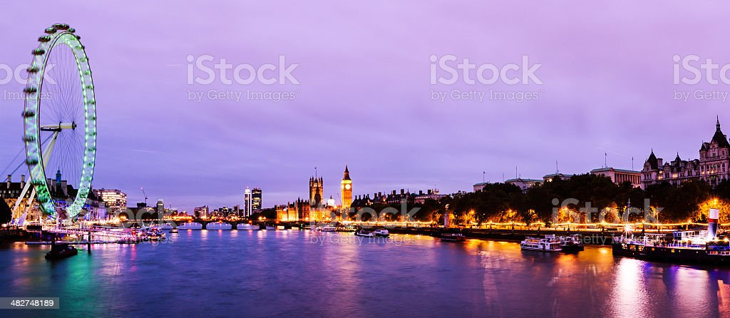 Panoramic London stock photo