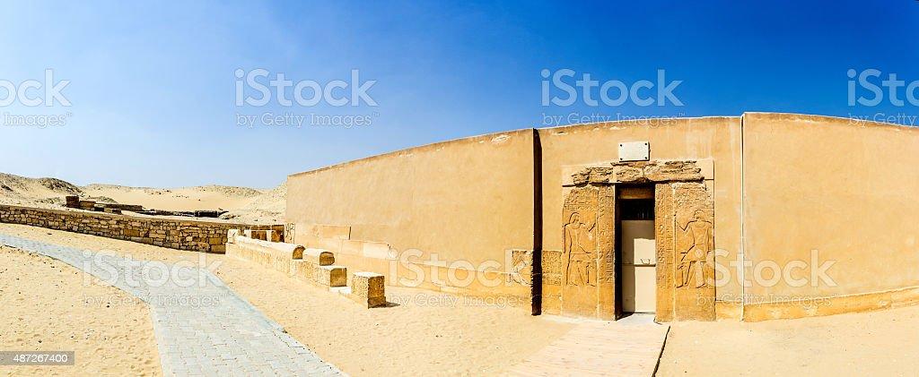 panoramic Mereruka mastaba stock photo