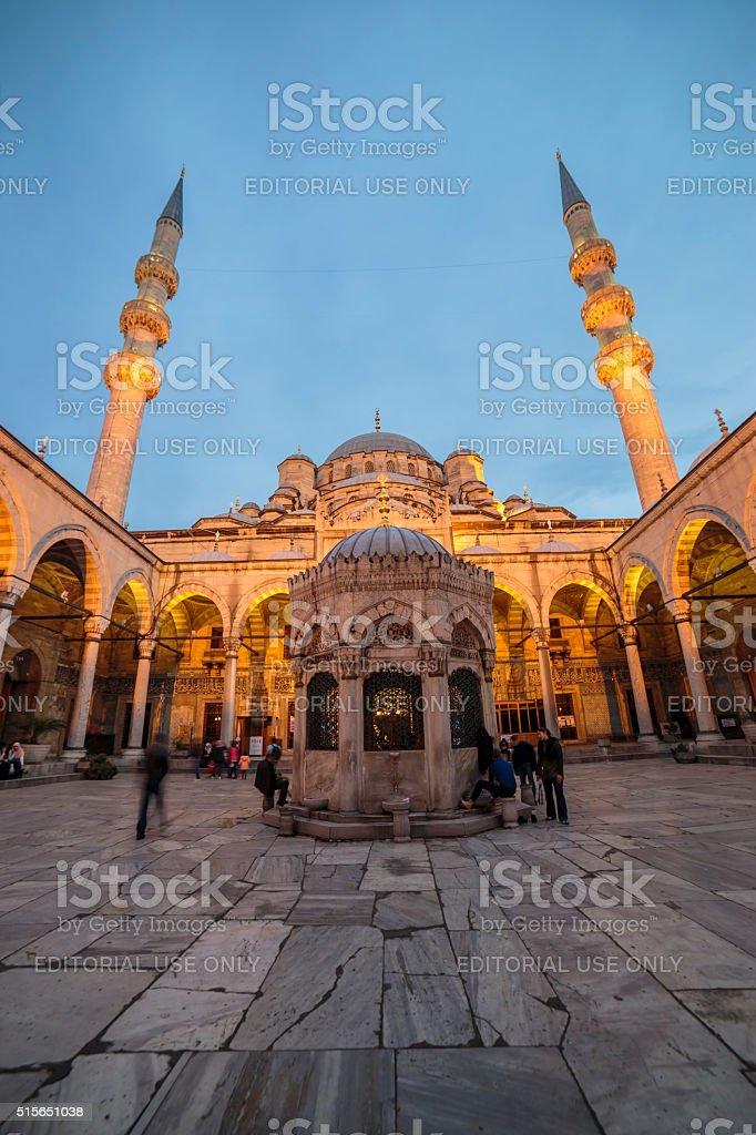 Panoramic Mosque stock photo