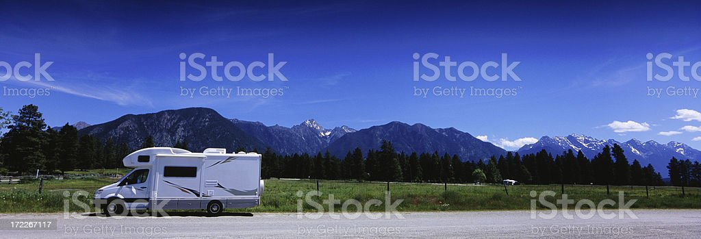 Panoramic Motohome RV royalty-free stock photo