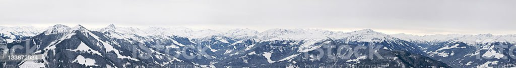 panoramic mountain range stock photo