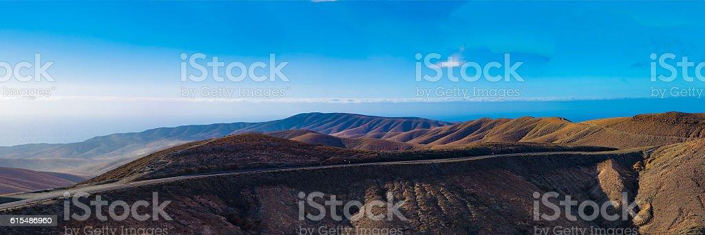 panoramic mountain road stock photo