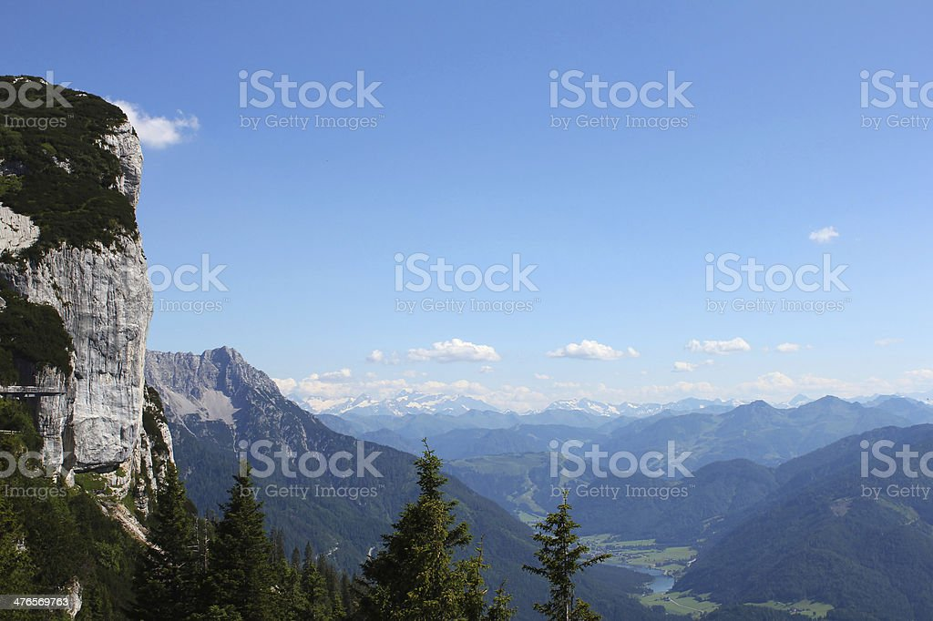 Panoramic mountain view in the alps royalty-free stock photo