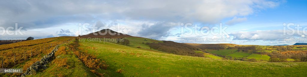 Panoramic mountain vista stock photo