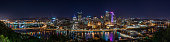 Panoramic Night View of downtown Pittsburgh