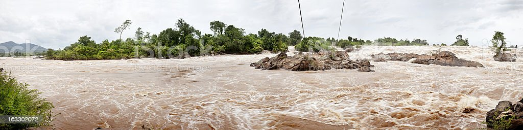 Panoramic of a river stock photo