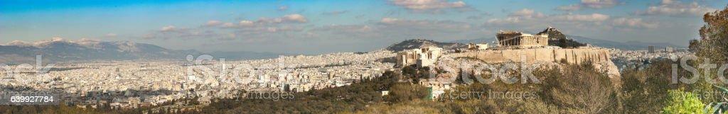 Panoramic of Acropolis stock photo