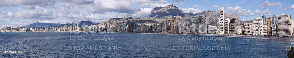 Panoramic of Benidorm stock photo