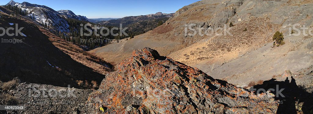 Panoramic of Carson Iceberg Wilderness royalty-free stock photo