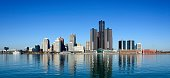 Panoramic of Detroit Skyline as Seen From Windsor Canada