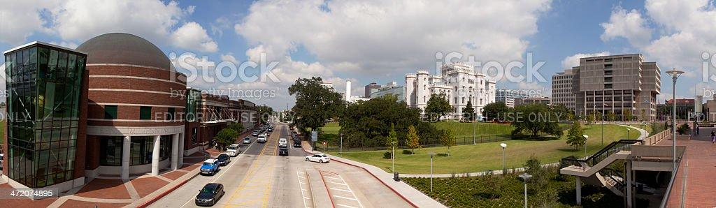 Panoramic of Downtown Baton Rouge, Louisiana stock photo