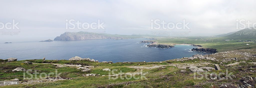 Panoramic of Dunquin, Ireland royalty-free stock photo