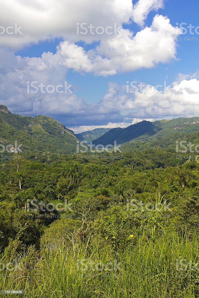 Panoramic of Escambray Mountains royalty-free stock photo