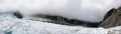 Panoramic of Franz Josef Glacier in New Zealand