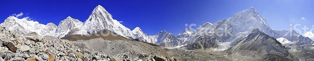 panoramic of himalaya range royalty-free stock photo
