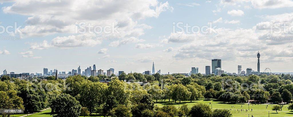 Panoramic of London City stock photo