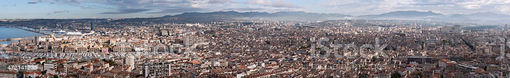 Panoramic of Marseille stock photo