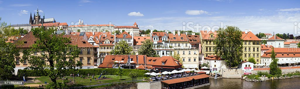 Panoramic of Prague Castle royalty-free stock photo