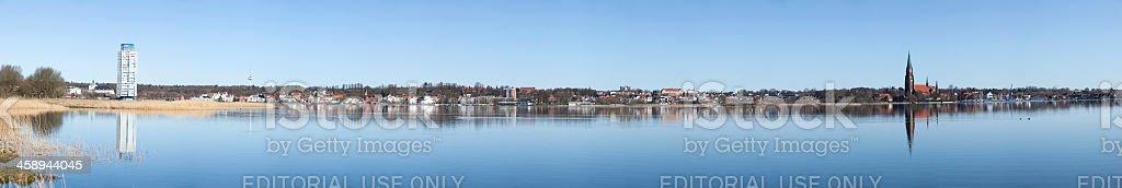 Panoramic of Schleswig, Germany stock photo