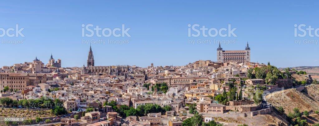 Panoramic of Toledo stock photo