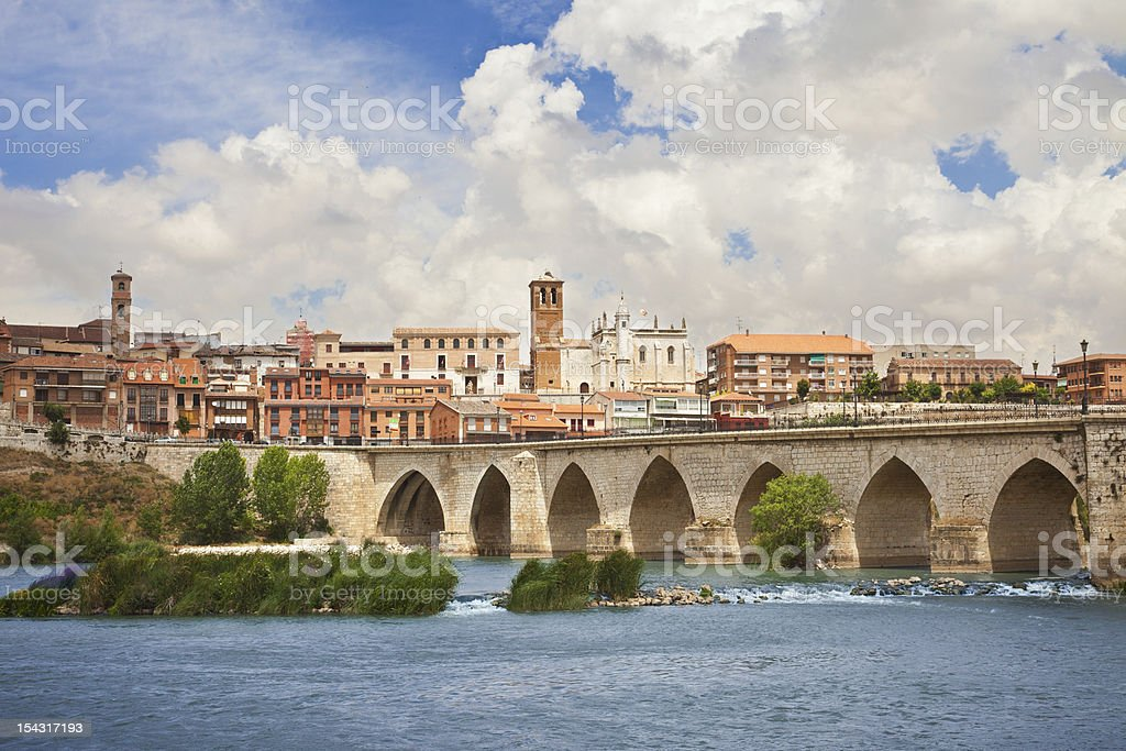 Panoramic of Tordesillas royalty-free stock photo