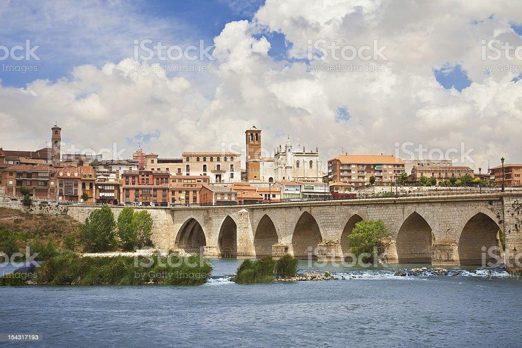 Panoramic of Tordesillas stock photo