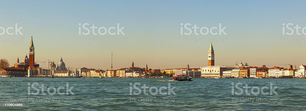 Panoramic overview of Venice royalty-free stock photo
