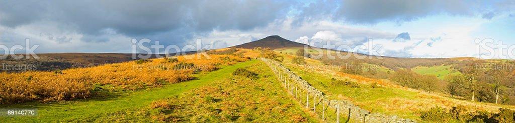 Panoramic peak stock photo