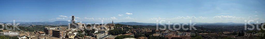 Panoramic Perugia royalty-free stock photo
