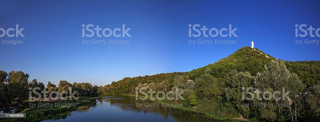 Panoramic photo of river stock photo
