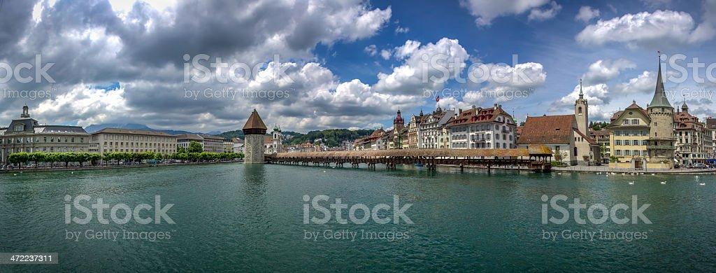 Panoramic Picture City of Luzern, Switzerland stock photo