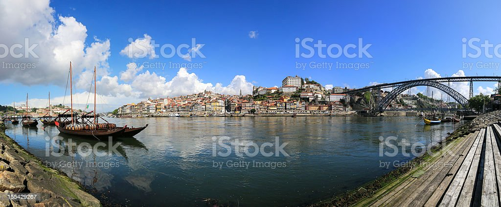 Panoramic picture of Porto in the morning royalty-free stock photo