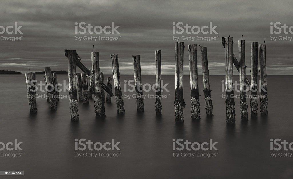 Panoramic Pier royalty-free stock photo