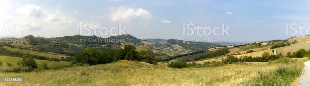 Panoramic point in italian hills stock photo