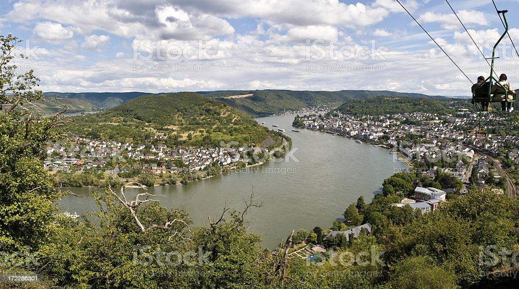 Panoramic - Rhine Valley stock photo