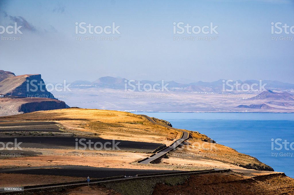 Panoramic road stock photo