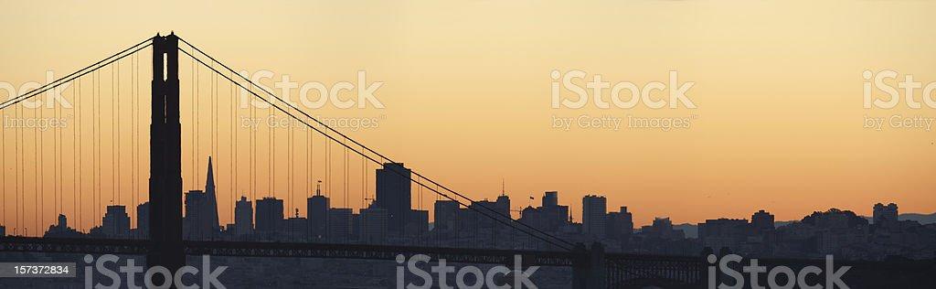 Panoramic - San Francisco royalty-free stock photo