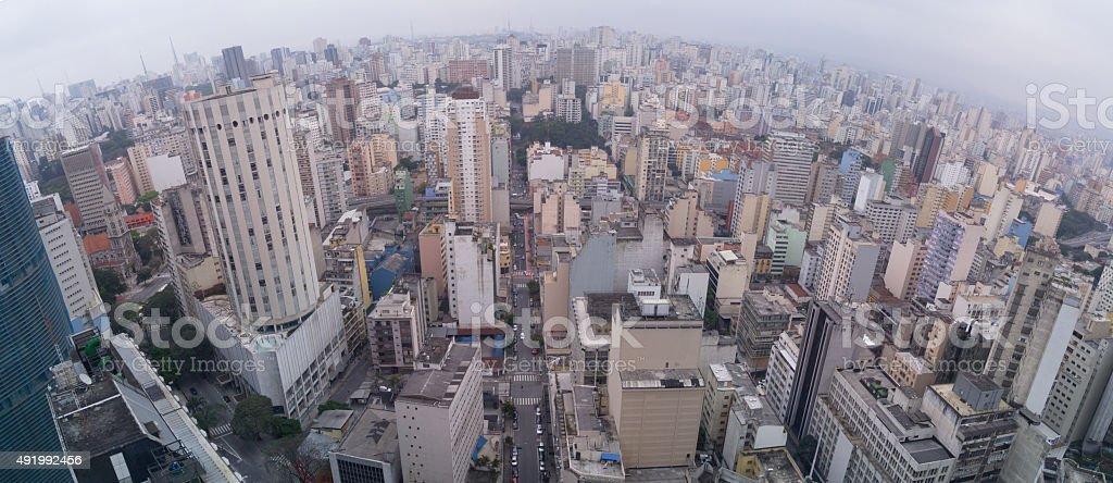 Panoramic Sao Paulo Downtow stock photo