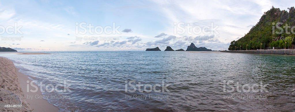 Panoramic sea views stock photo