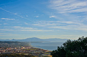 Panoramic shot from the top of the Rock of Gibraltar