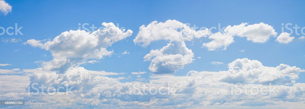 Panoramic sky composition stock photo