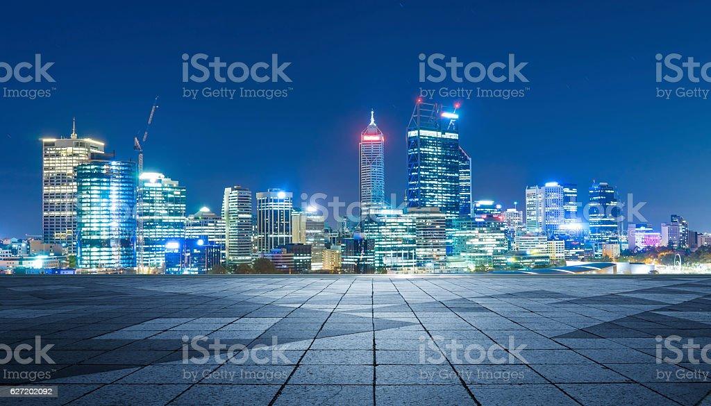 Panoramic skyline and buildings stock photo