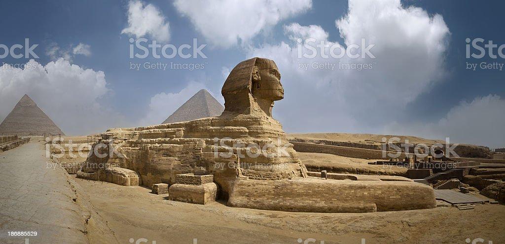 panoramic Sphinx royalty-free stock photo