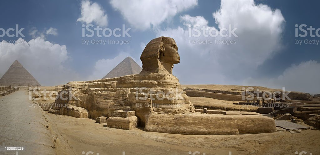 panoramic Sphinx stock photo