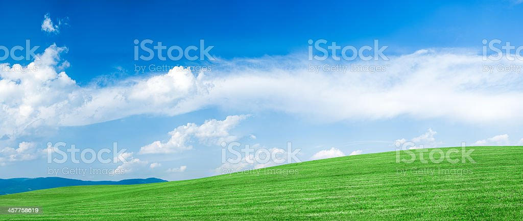 Panoramic spring landscape  175 MPix XXXXL royalty-free stock photo