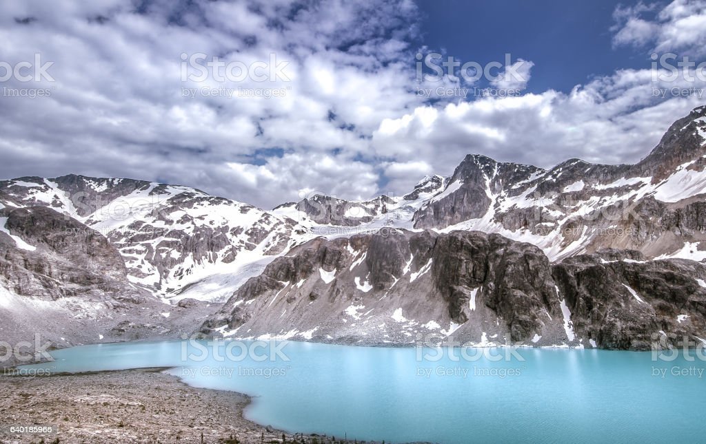 Panoramic summer mountain landscape at Whistler, Canada stock photo