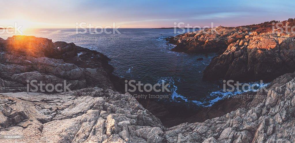 Panoramic Sunrise stock photo