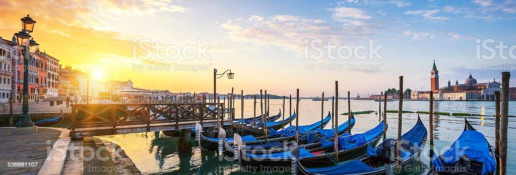 Panoramic surise, Venice. stock photo