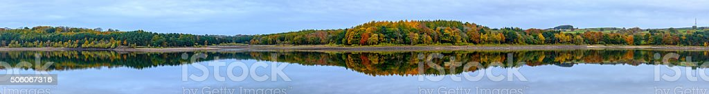 Panoramic Swinsty reservoir stock photo