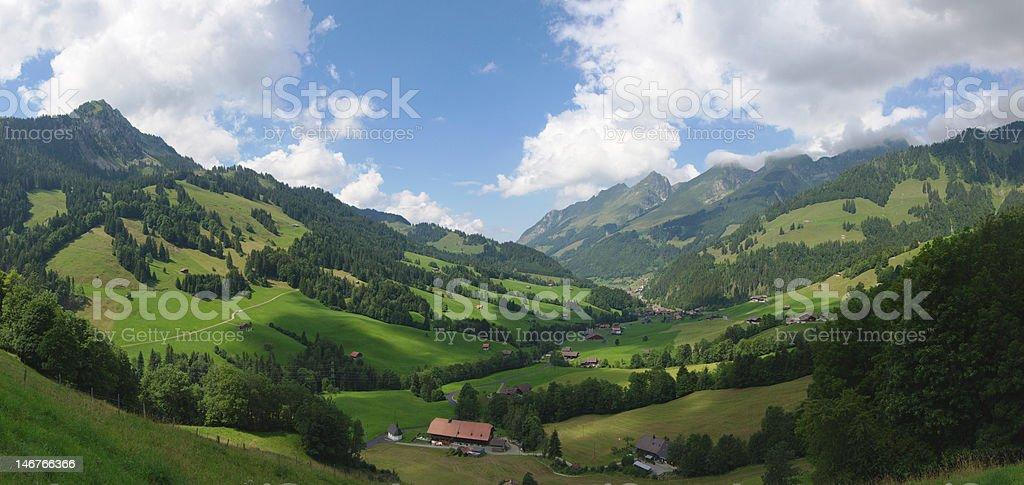panoramic Swiss Alps royalty-free stock photo